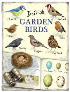 British Garden Birds small metal sign  (og 2015)